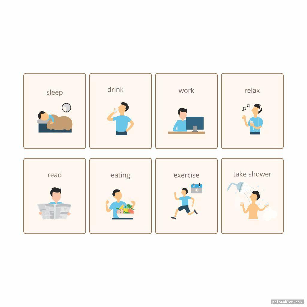 printable visual schedule image free