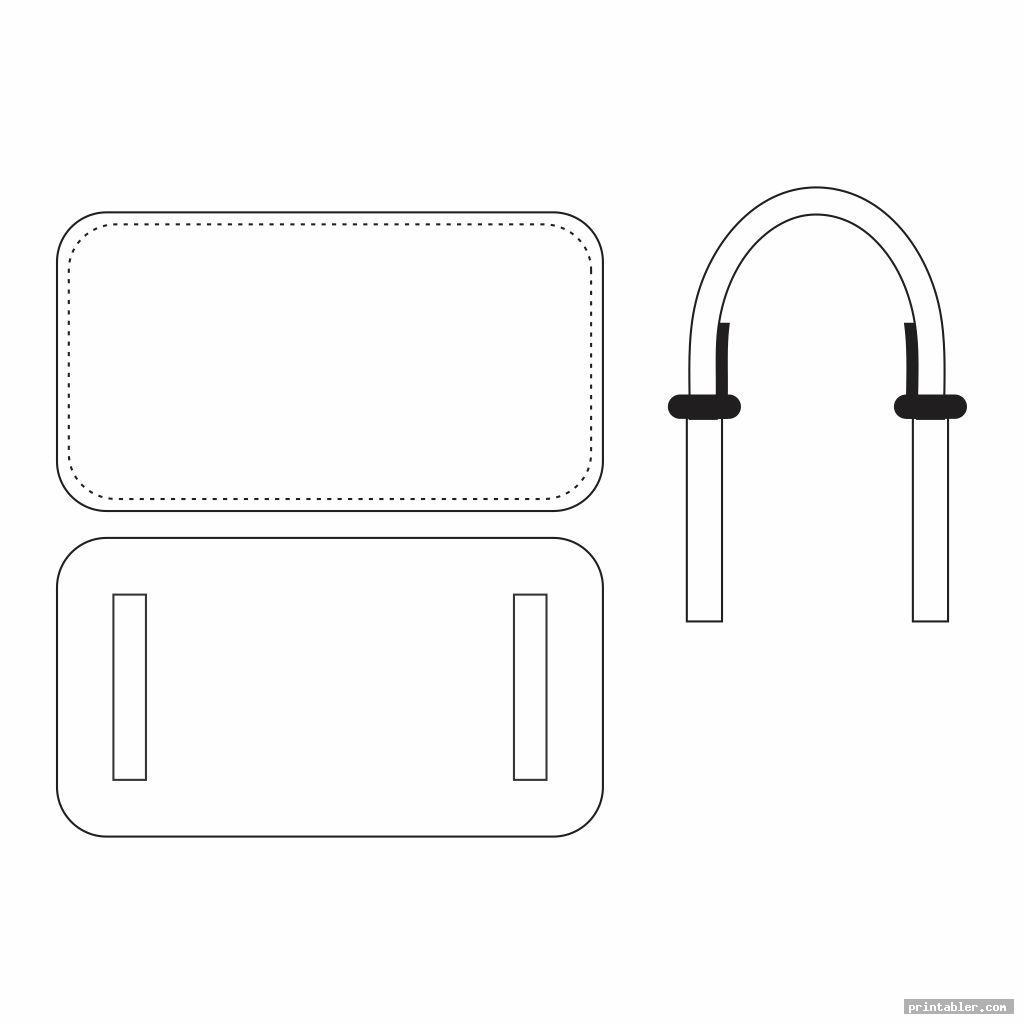 printable walker bag pattern template for use