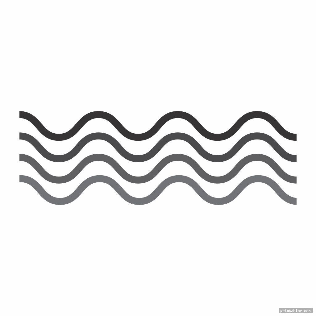 printable wave stencil image free
