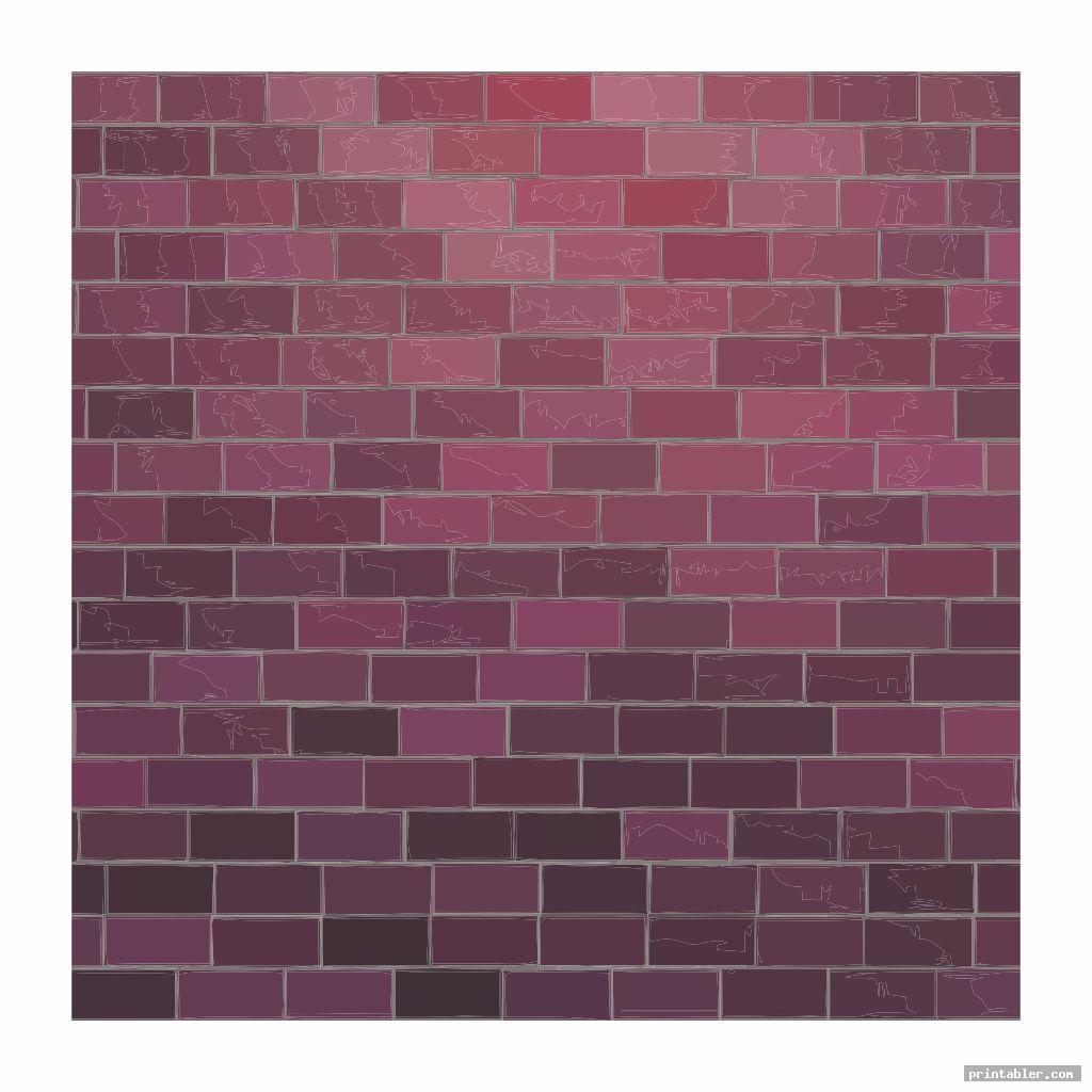purple printable brick template for teachers