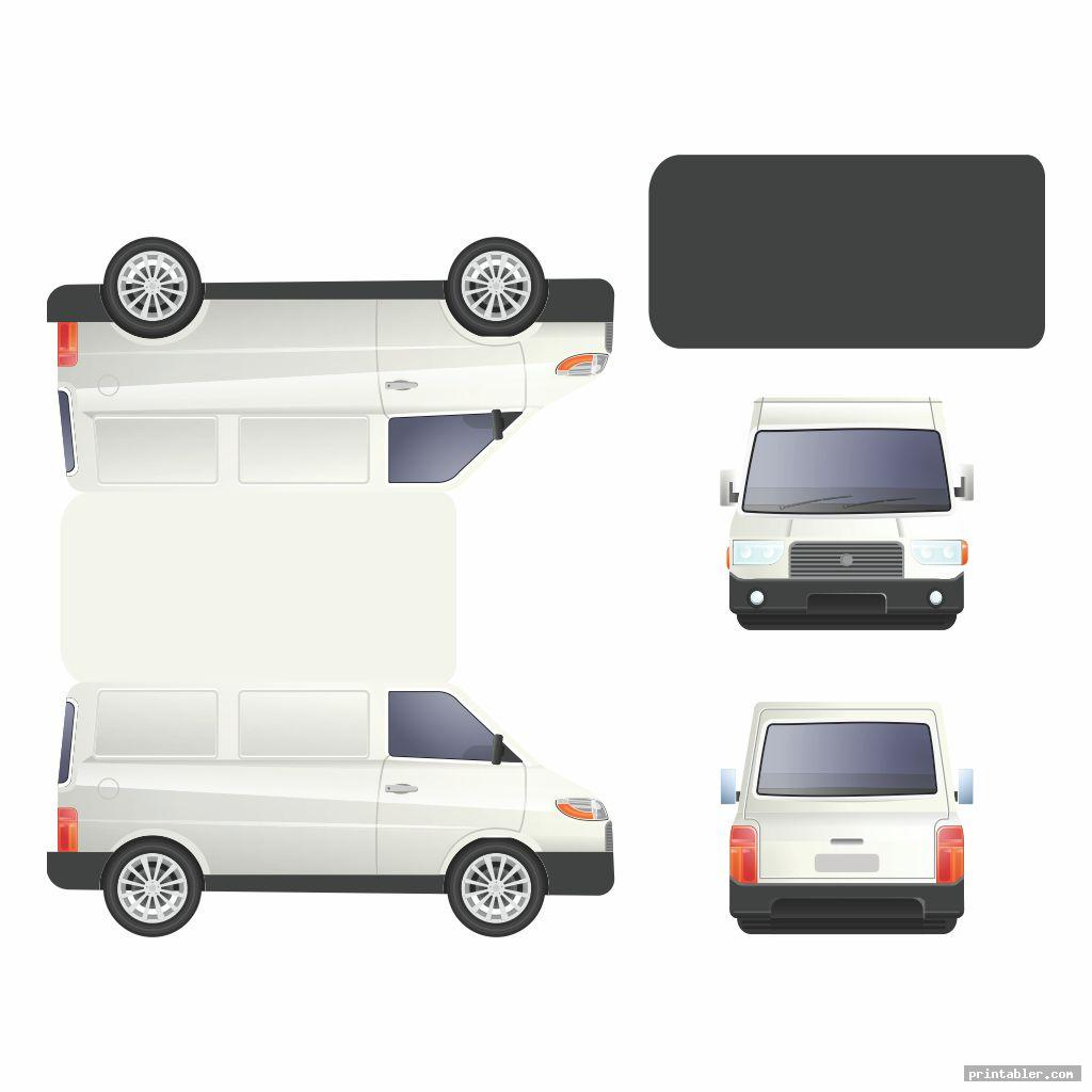 realistic vw bus paper template printable