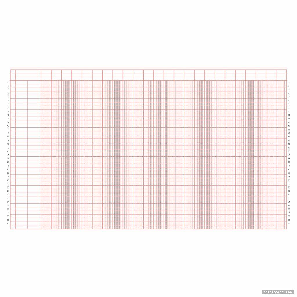 red printable columnar sheets pdf