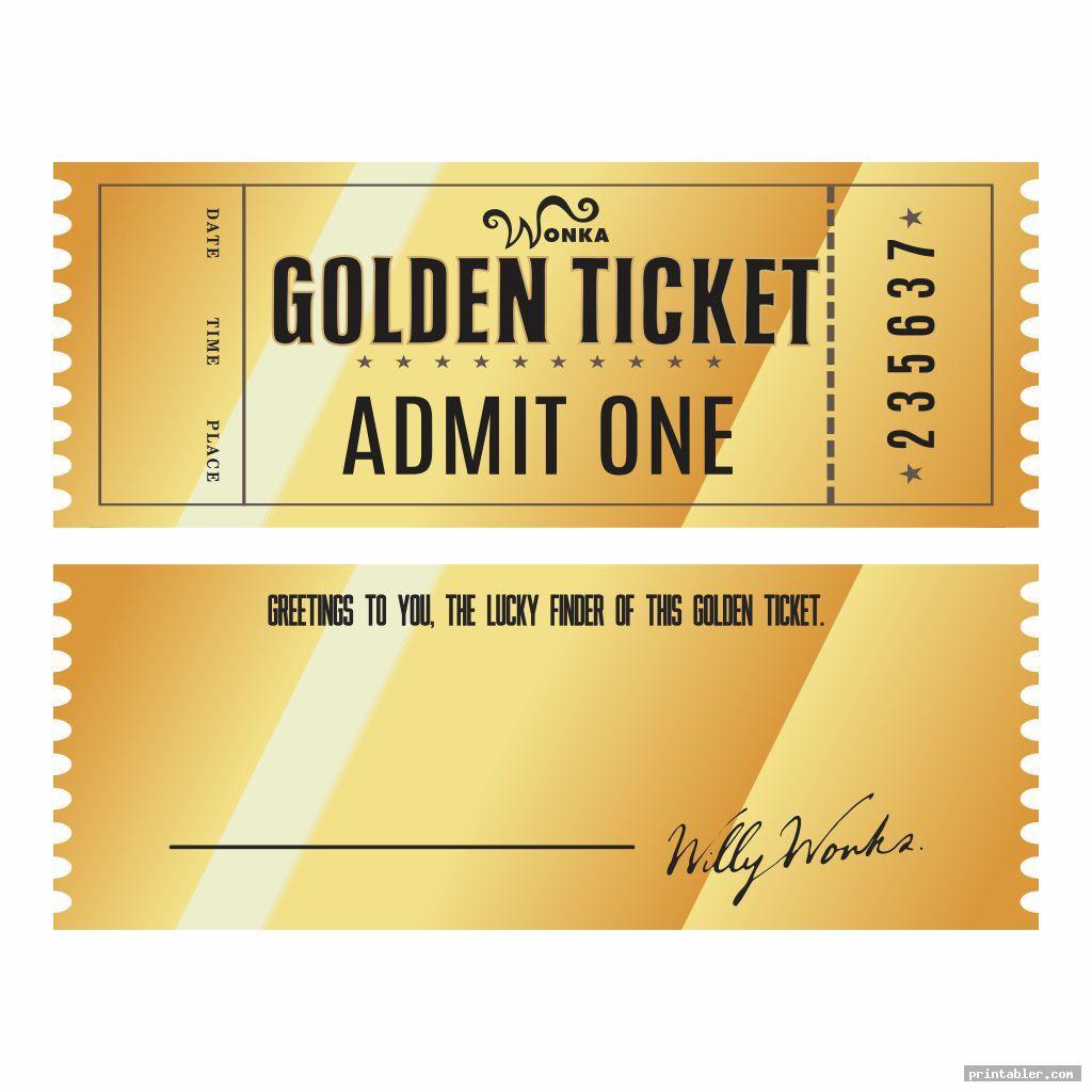 retro editable printable wonka golden ticket