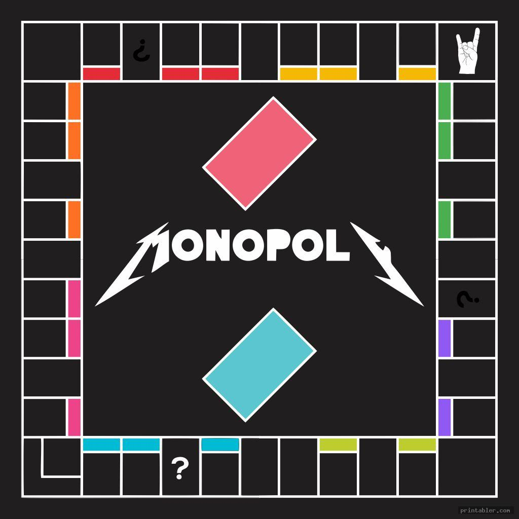 rock band printable monopoly board game
