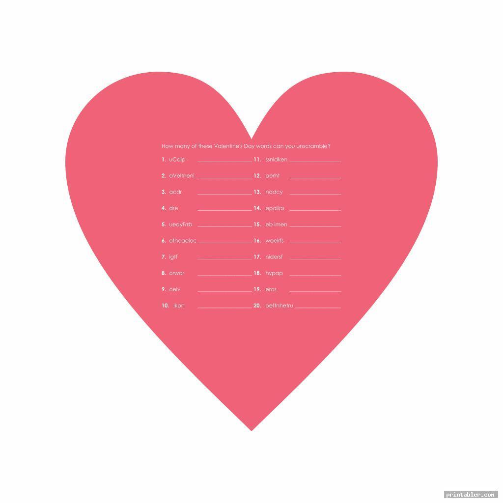 scrambled printable valentine s word search pdf