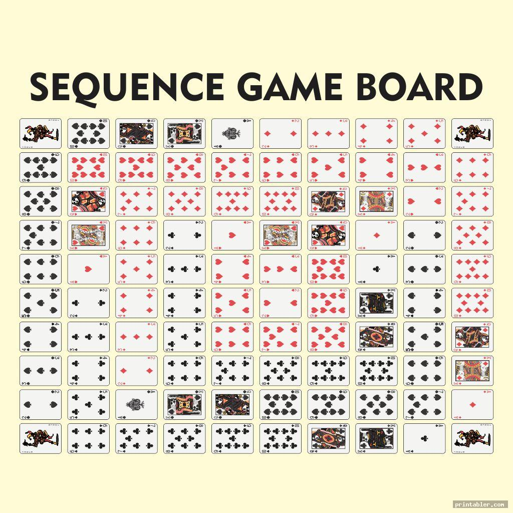 sequence board game printable j shut