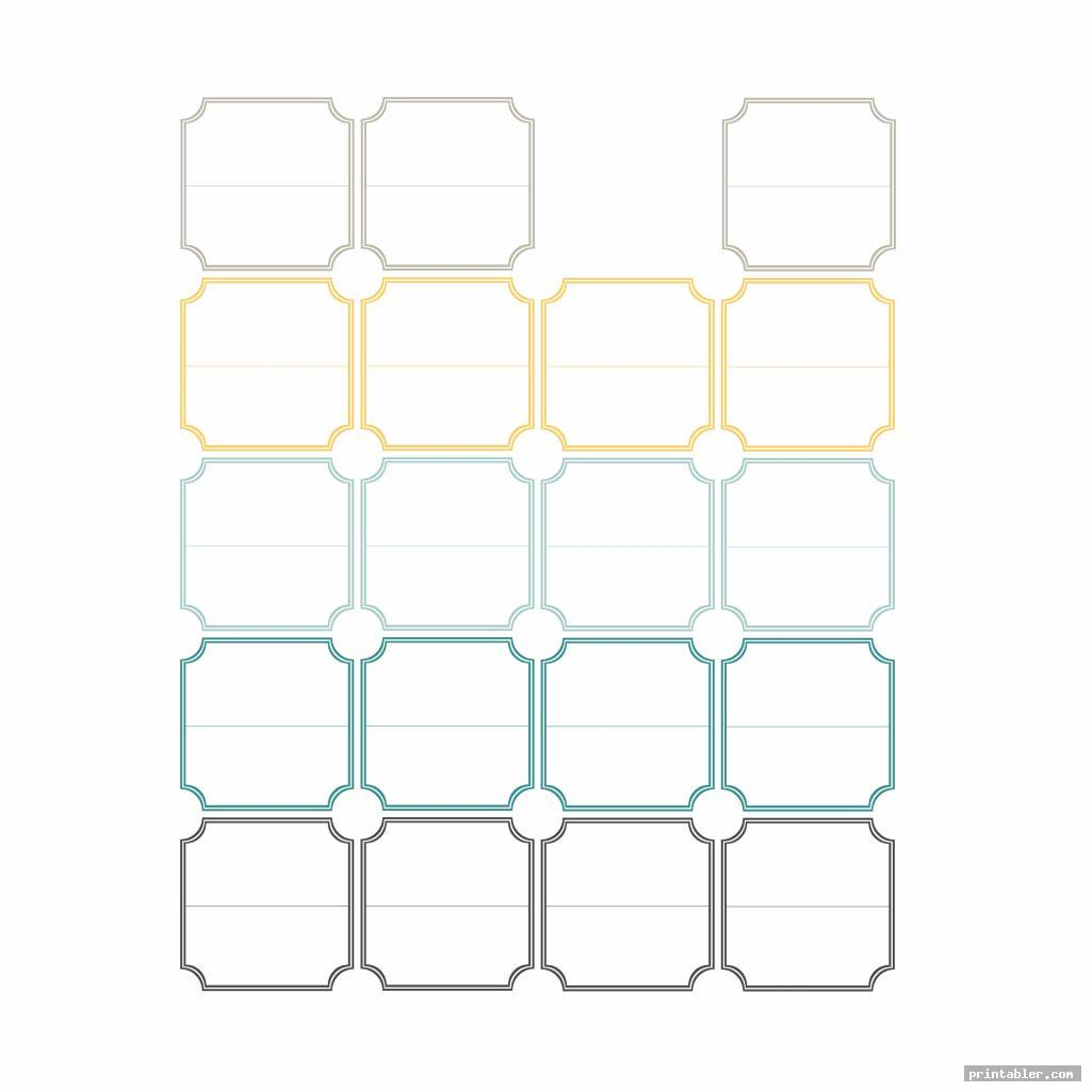 set of printable recipe divider templates