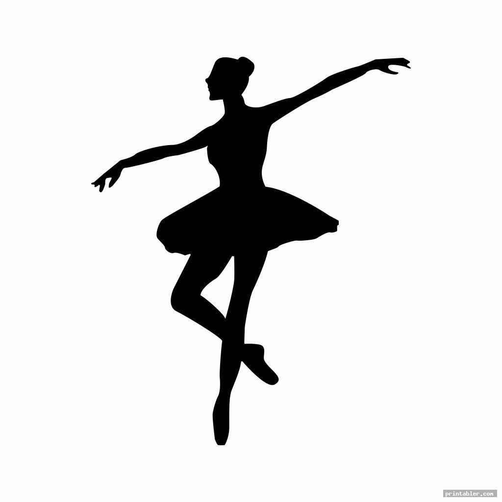 silhouette printable ballerina templates