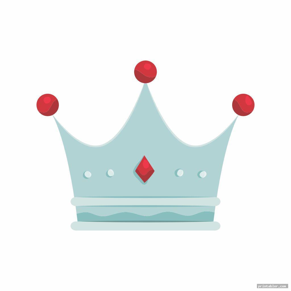 silver printable king crown template