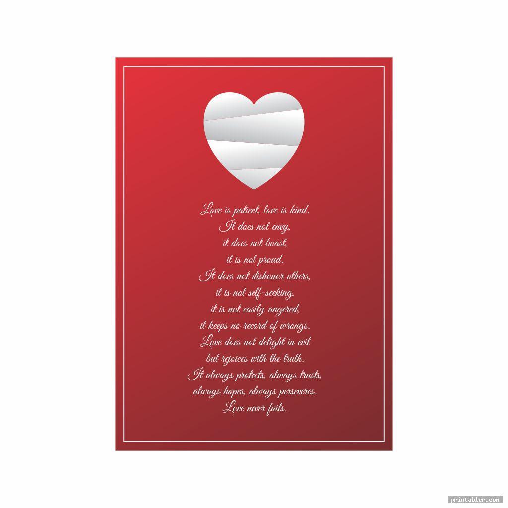 simple 1 corinthians 13 printable poem