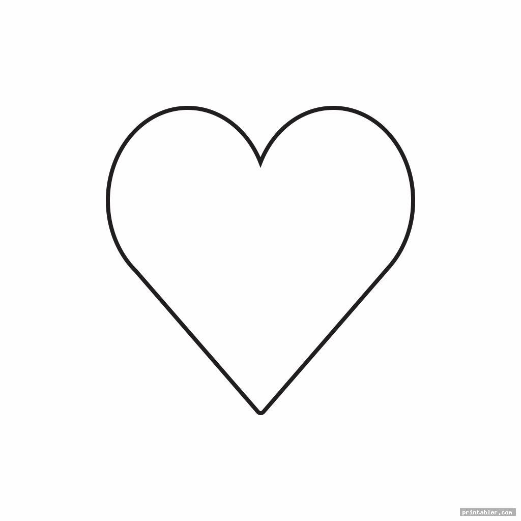 simple 2 inch heart template printable