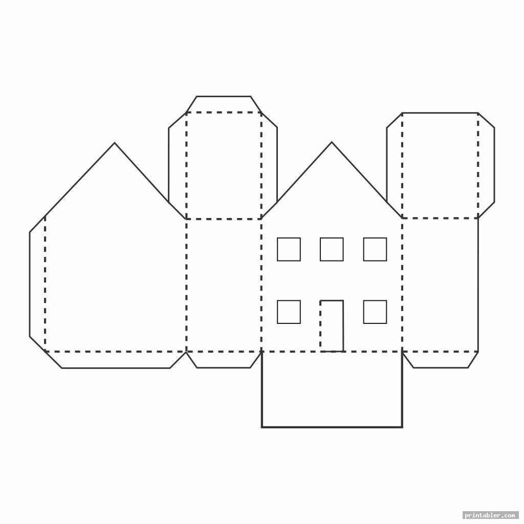 simple 3d printable house templates