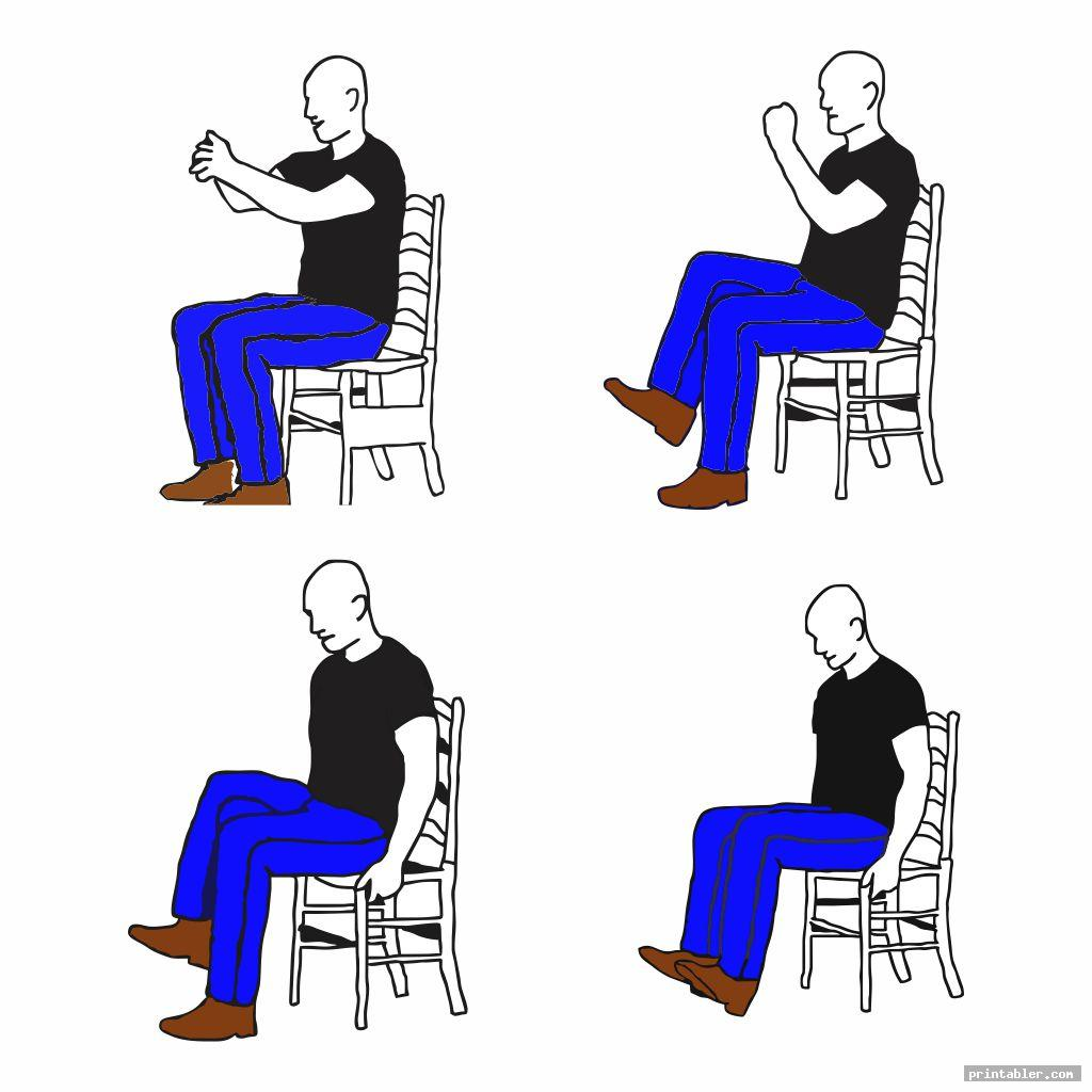 simple chair gym exercises printable