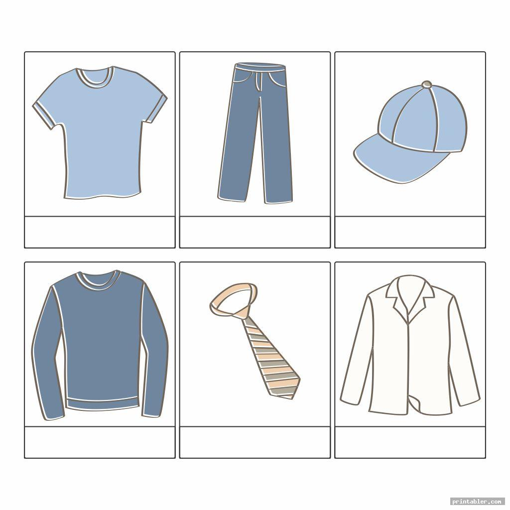 simple clothes printable worksheets