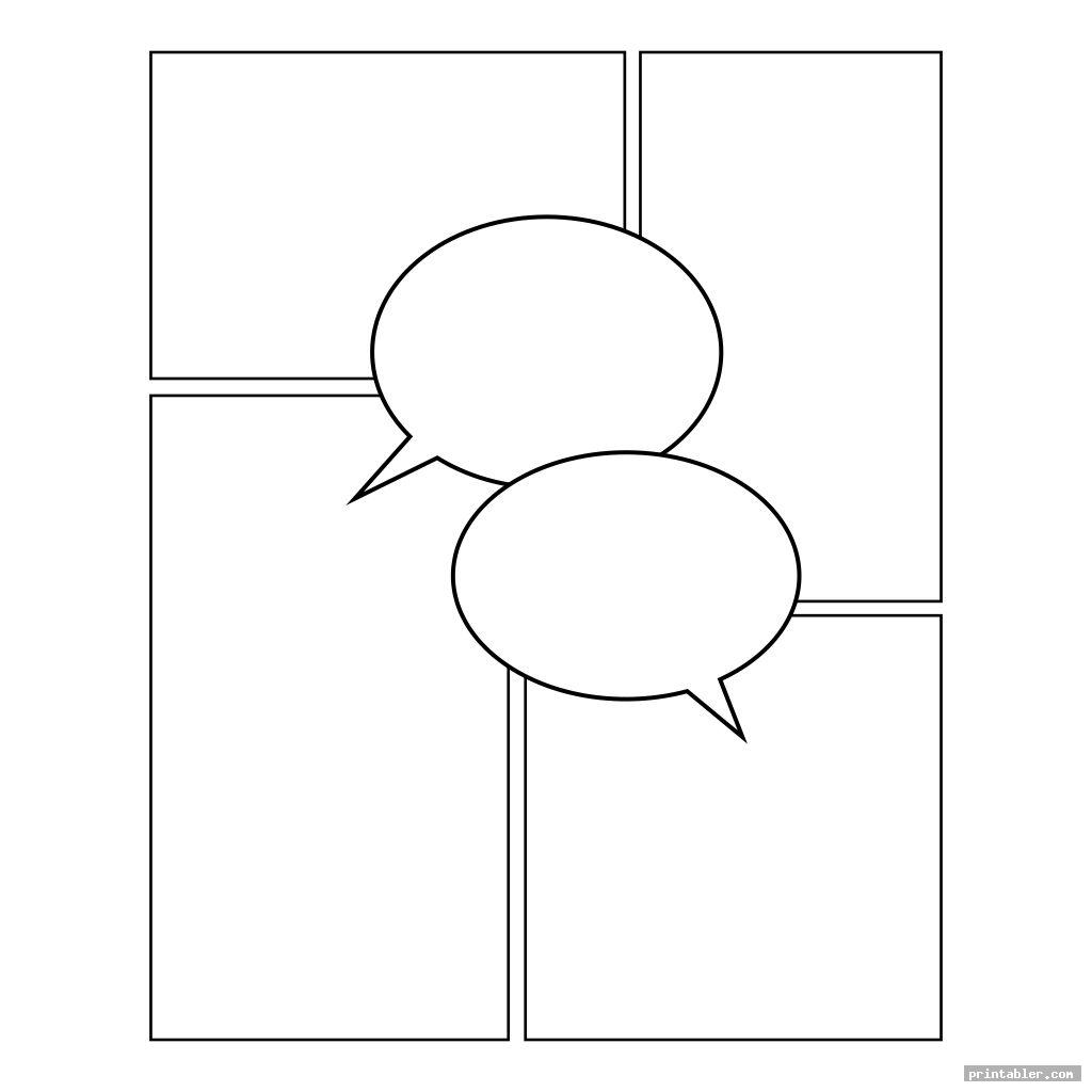 simple comic book templates printable