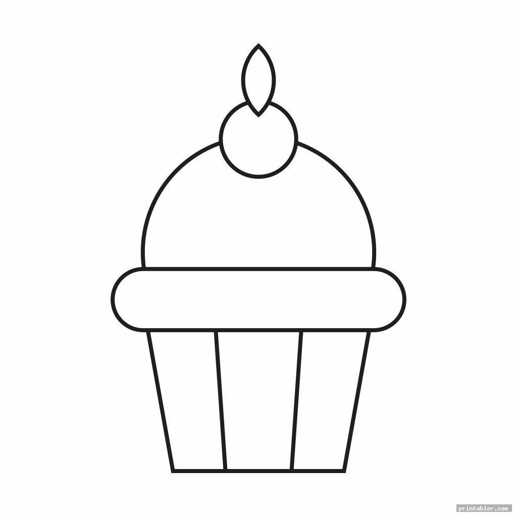 simple cupcake printable template for preschool