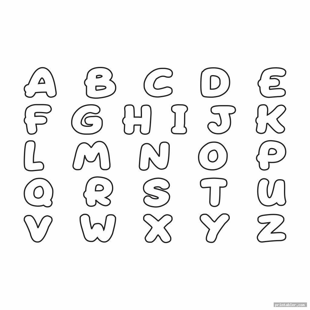 simple cute printable bubble letters