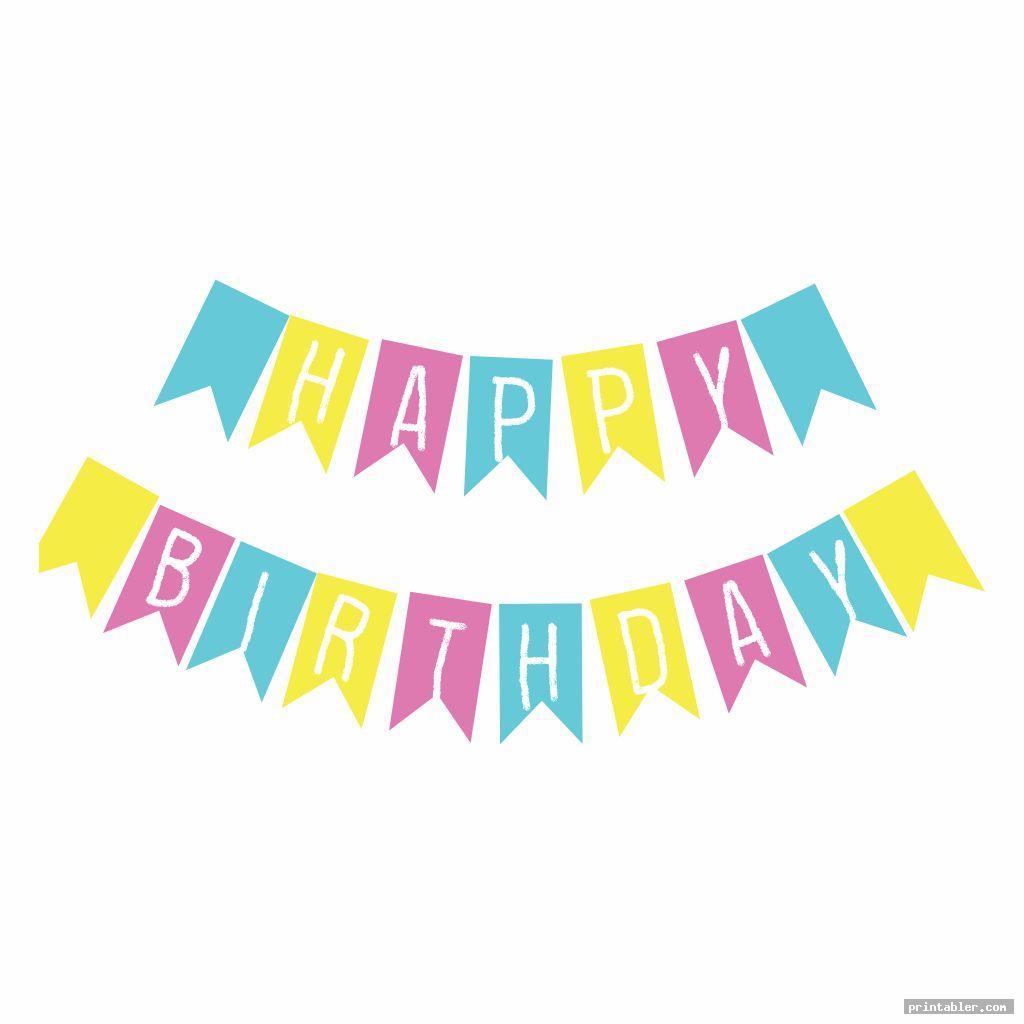 simple diy birthday banner printable template