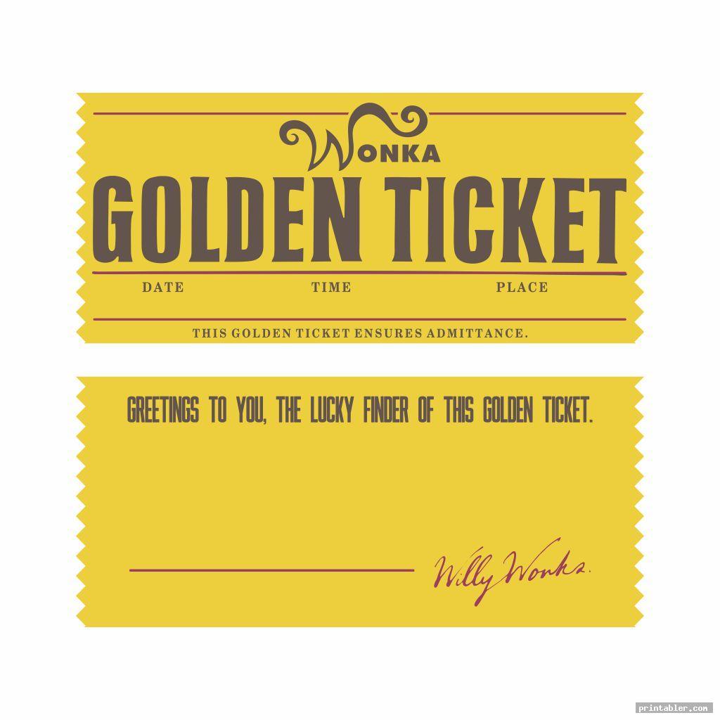 simple editable printable wonka golden ticket