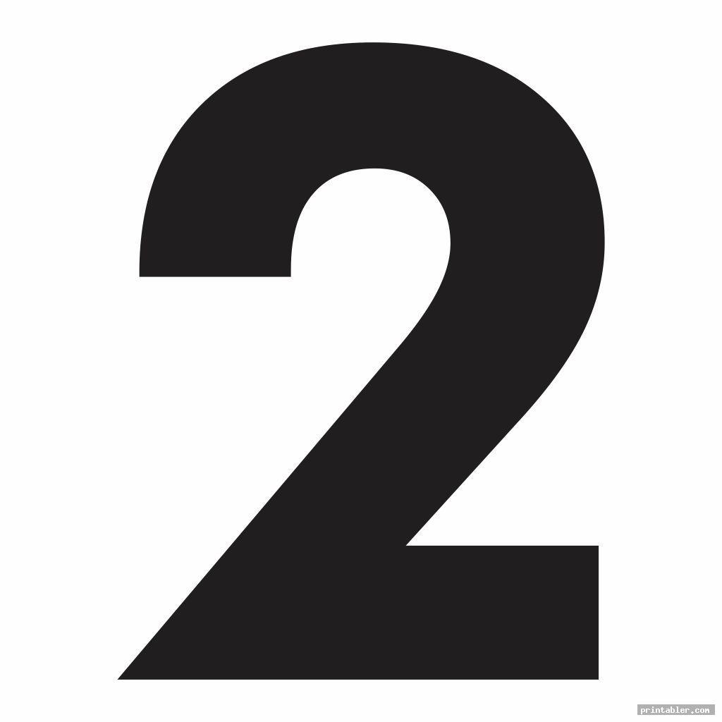 simple extra large numbers printable