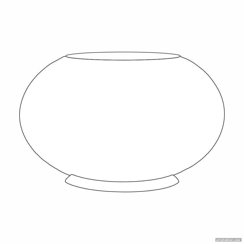 simple fish bowl template printable