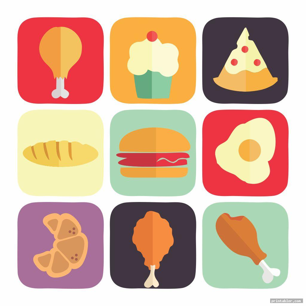 Food Memory Game Printable