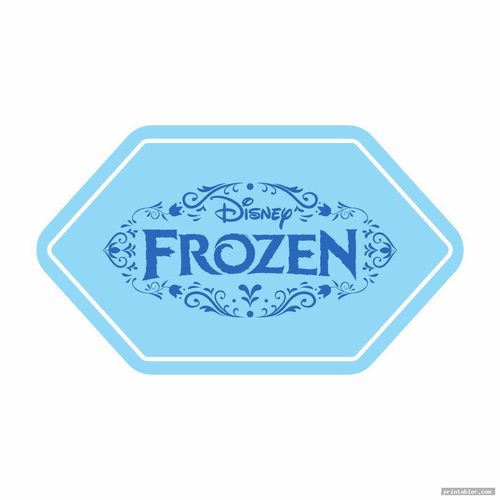 simple frozen printable label templates