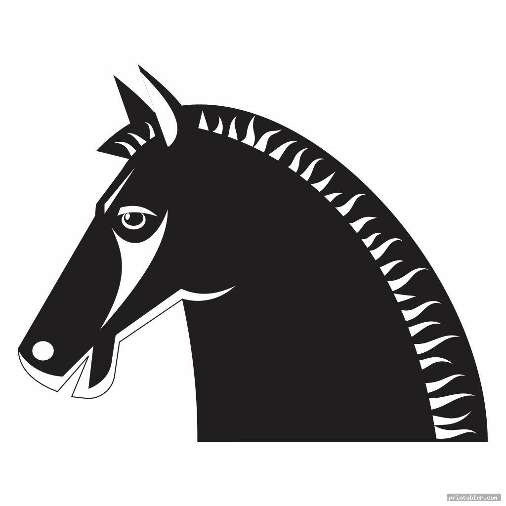 Horse Head Template Printable
