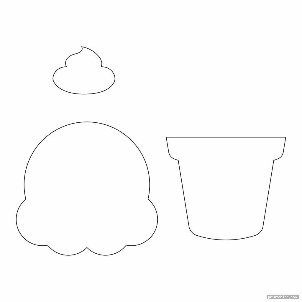 simple ice cream printable pattern