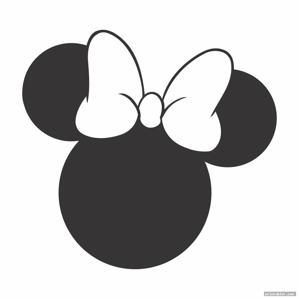 simple minnie mouse face template printable