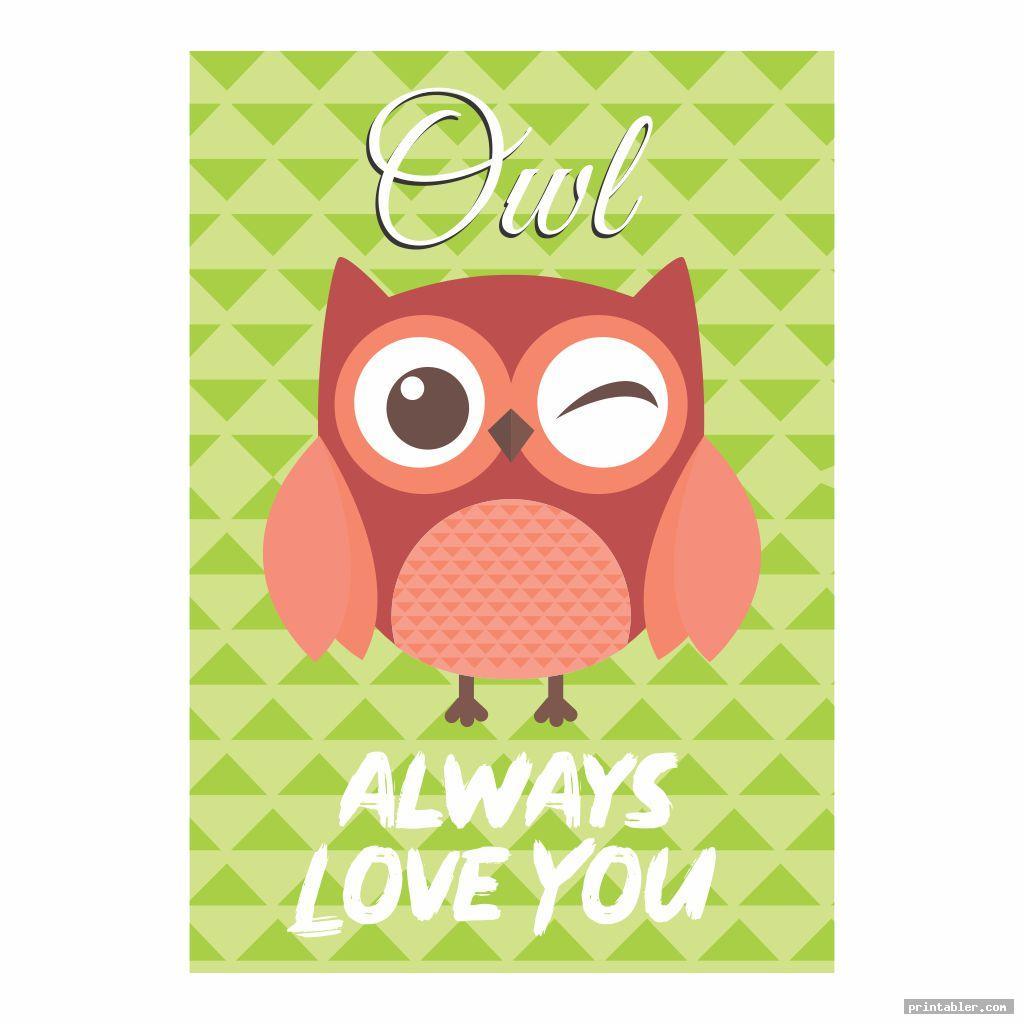 simple owl nursery printables