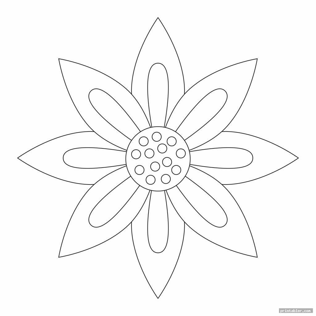 simple paper flower templates printable