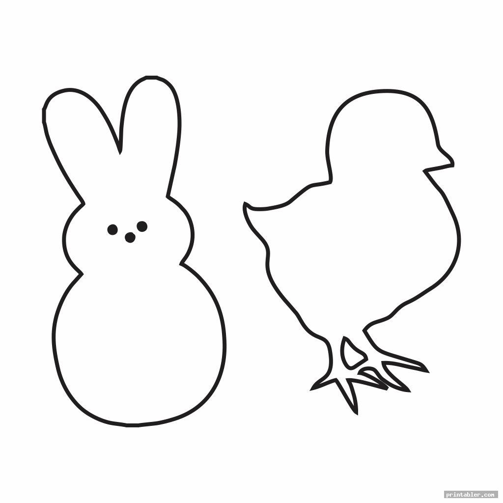 simple peeps chick template printable
