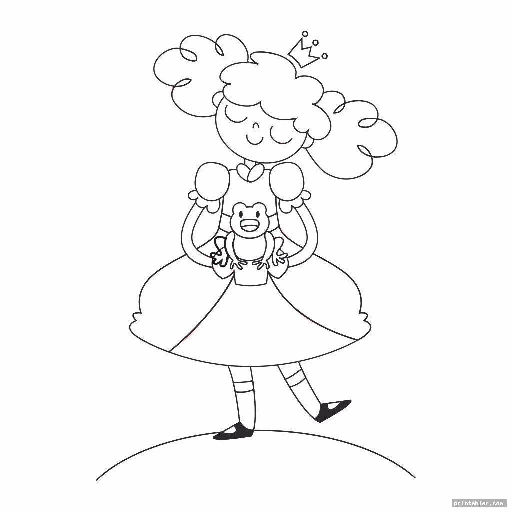 simple princess coloring printables
