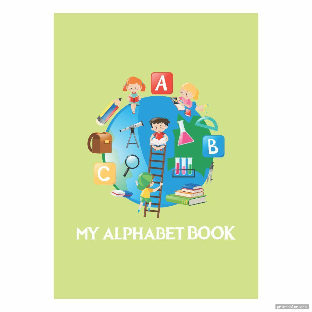 simple printable alphabet book cover