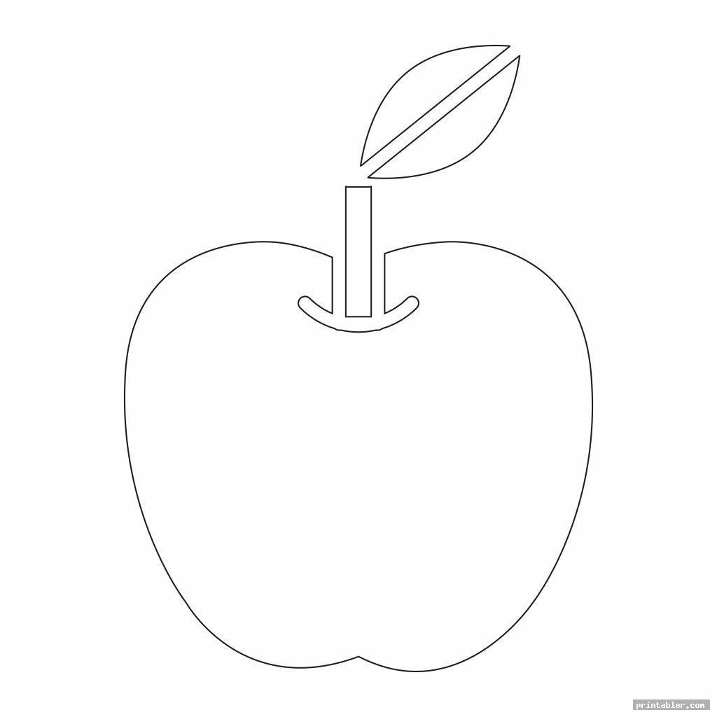 simple printable apple template preschool