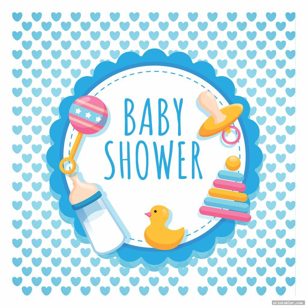 simple printable baby shower banner template