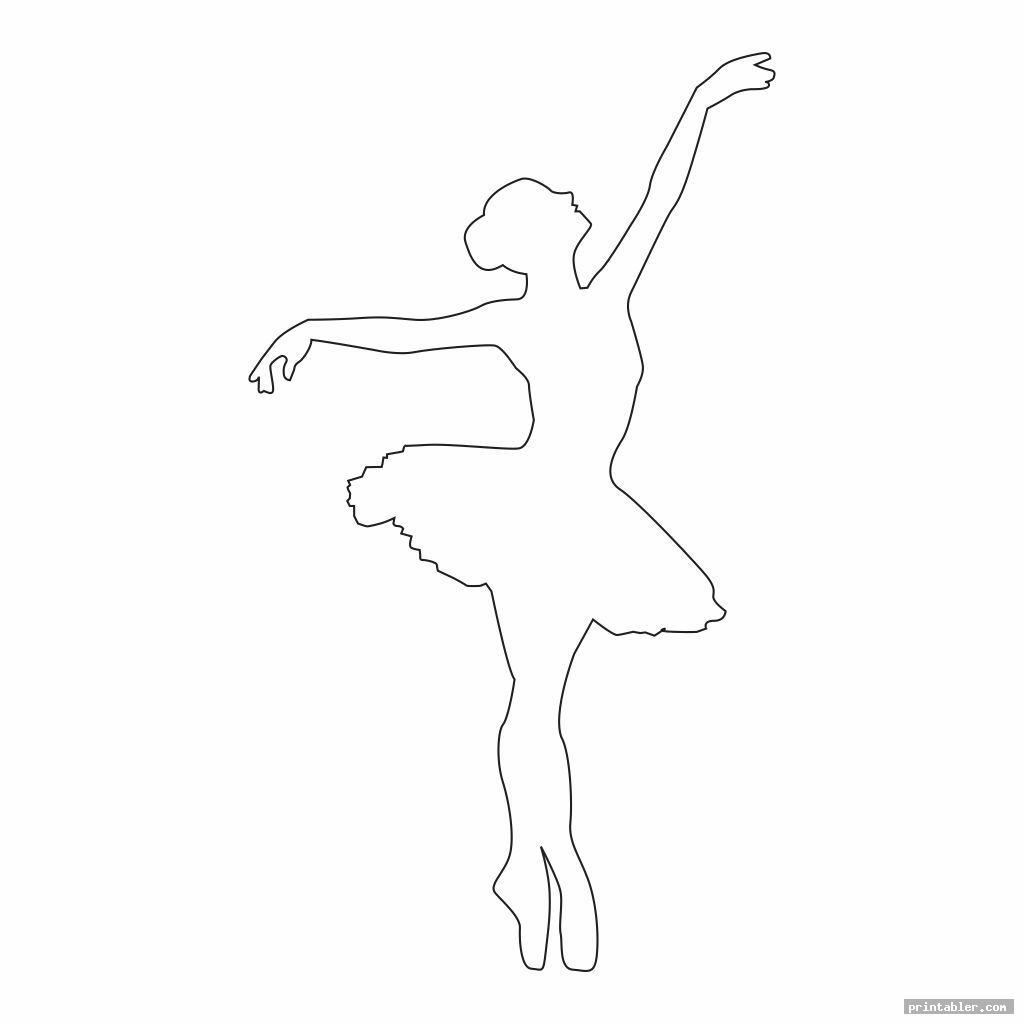 simple printable ballerina templates