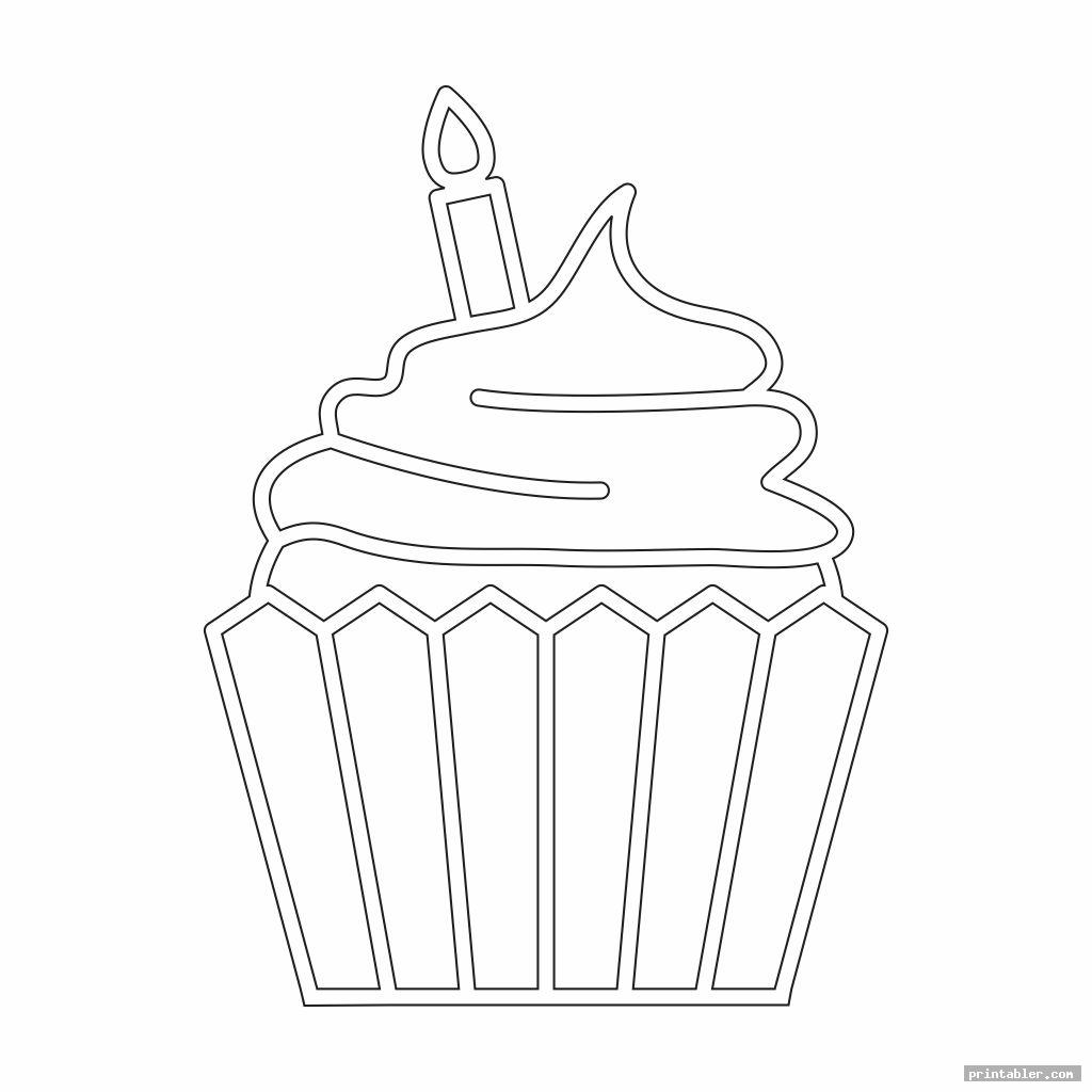 simple printable birthday cupcake outlines