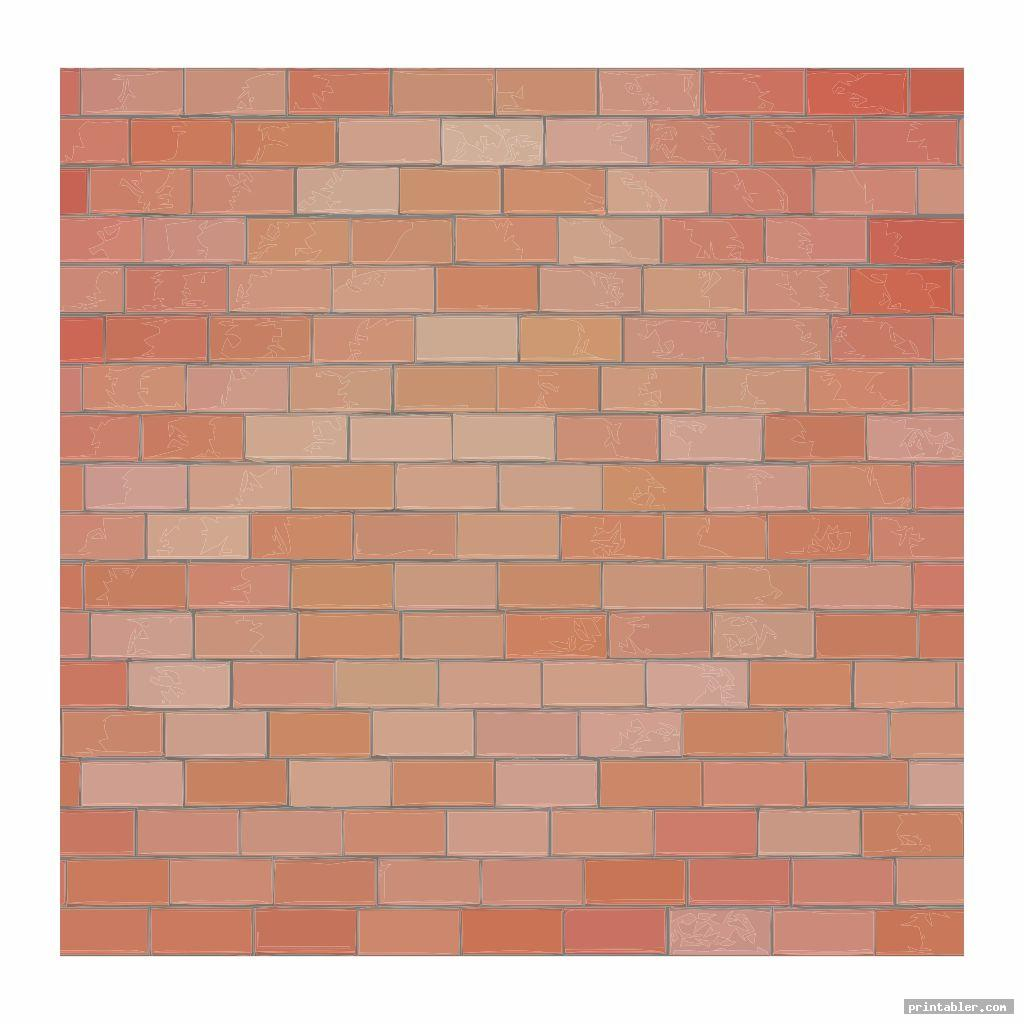 simple printable brick template for teachers