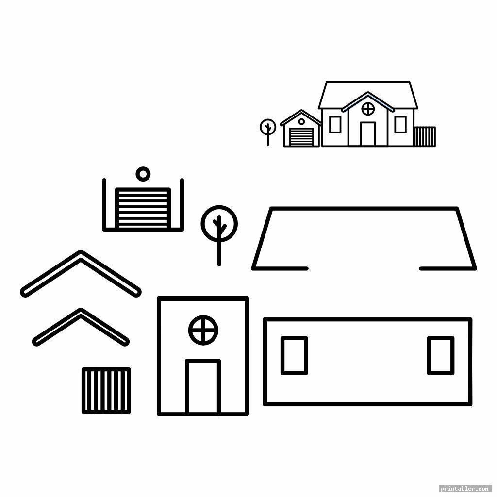 simple printable building models