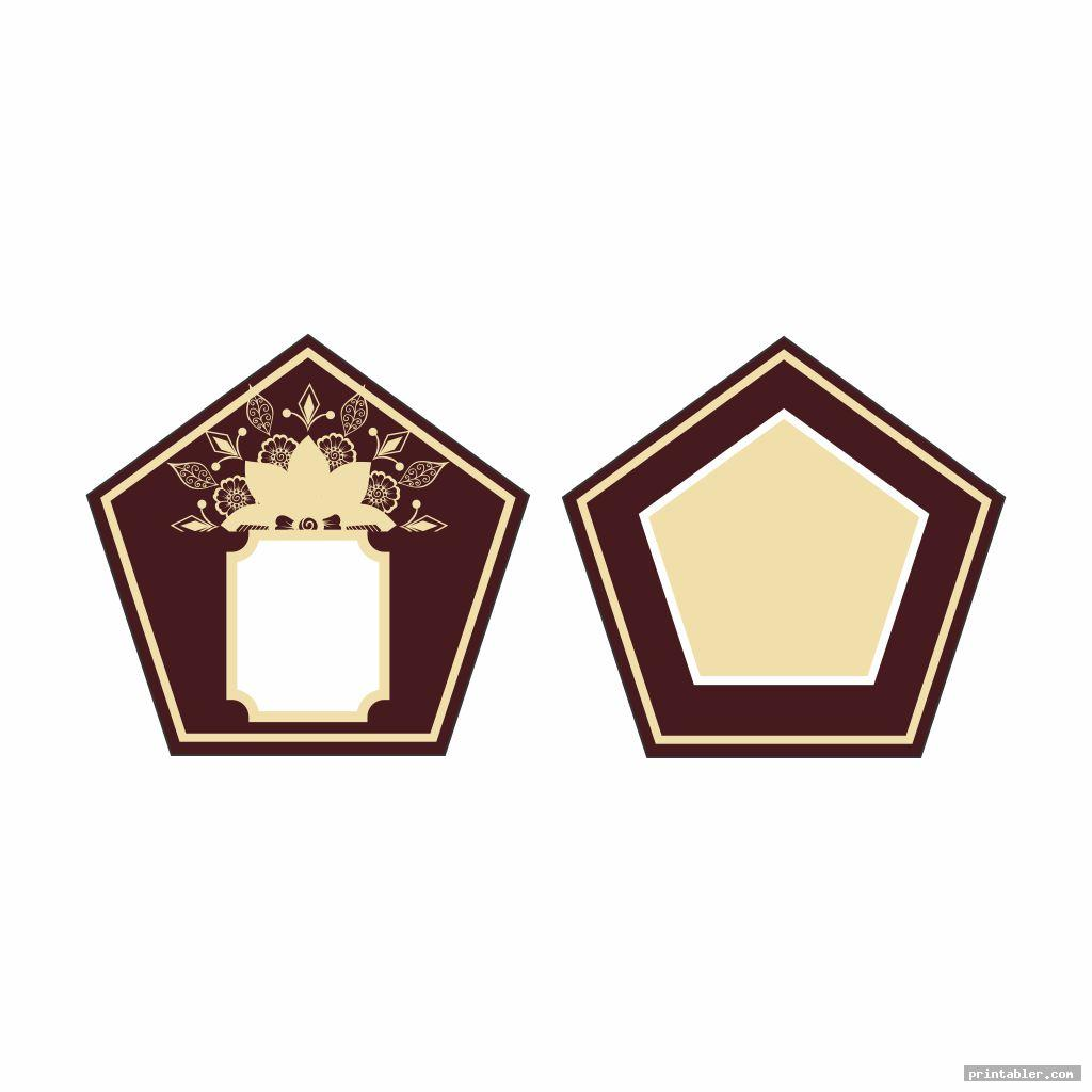 simple printable chocolate frogs wizard cards