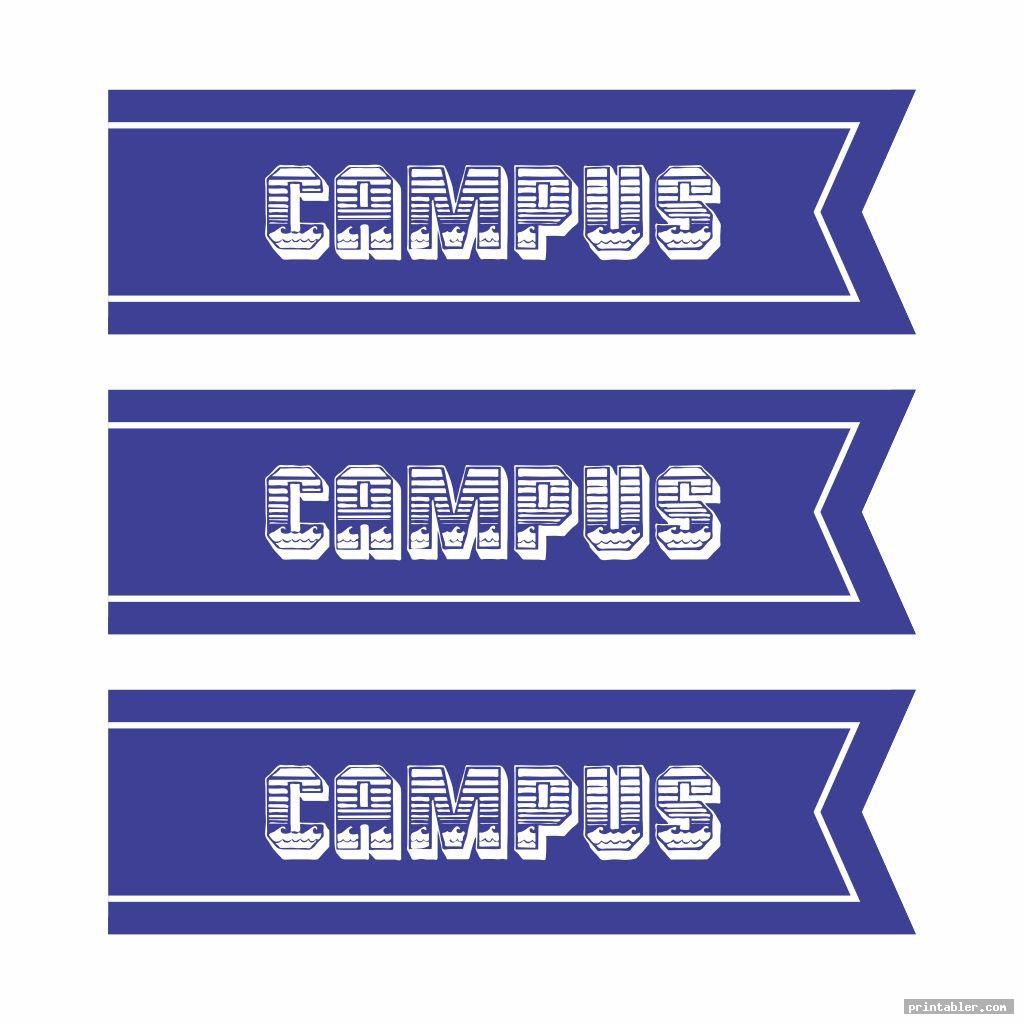 simple printable college banners
