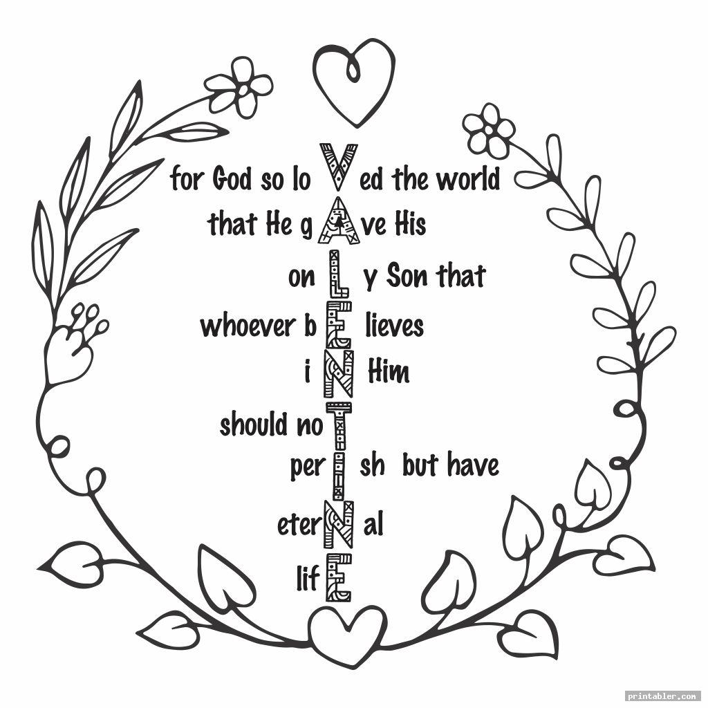 simple printable coloring page with john 3 16