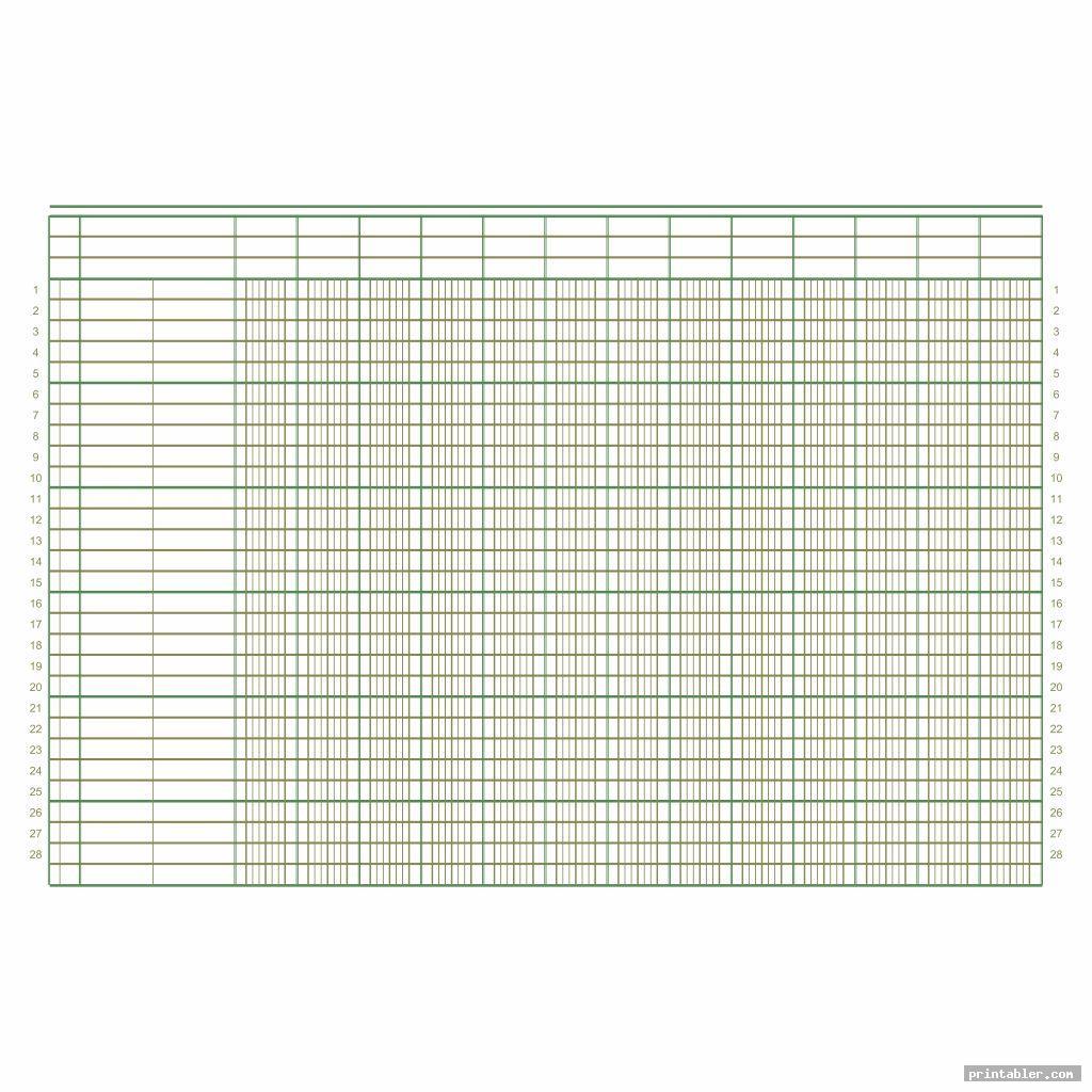simple printable columnar sheets pdf