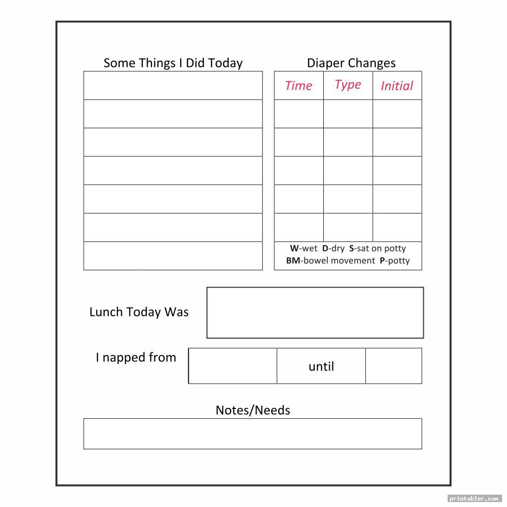 simple printable daily sheets for toddlers
