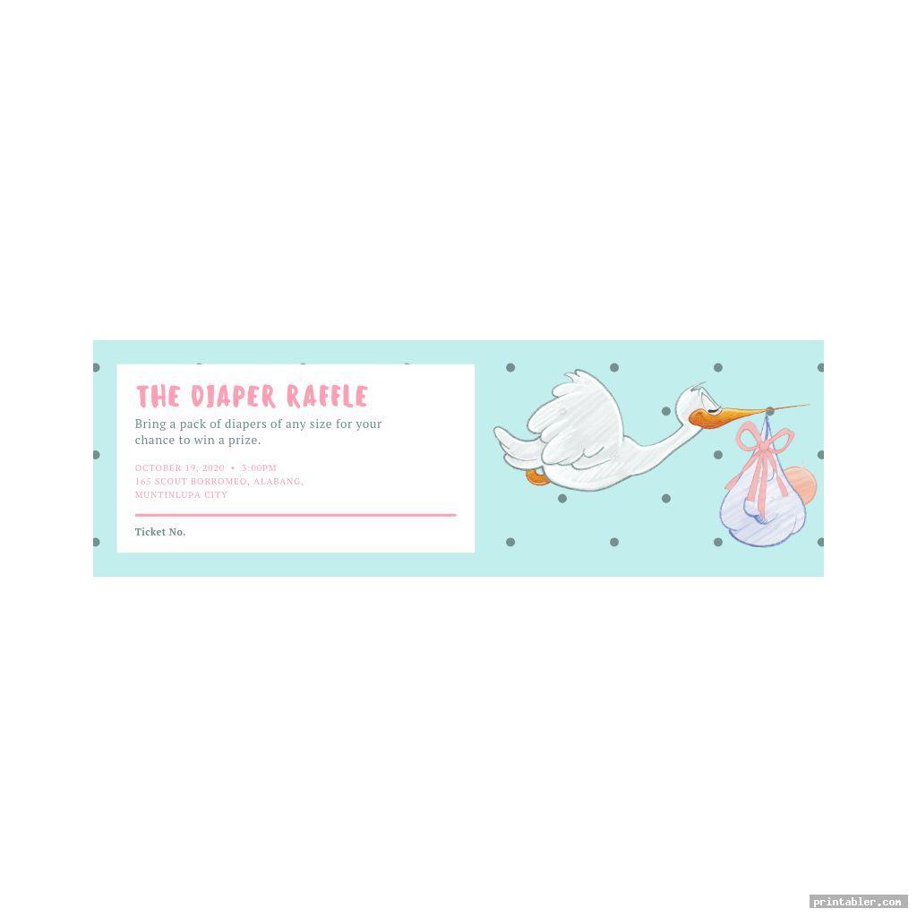 simple printable diaper raffle sign