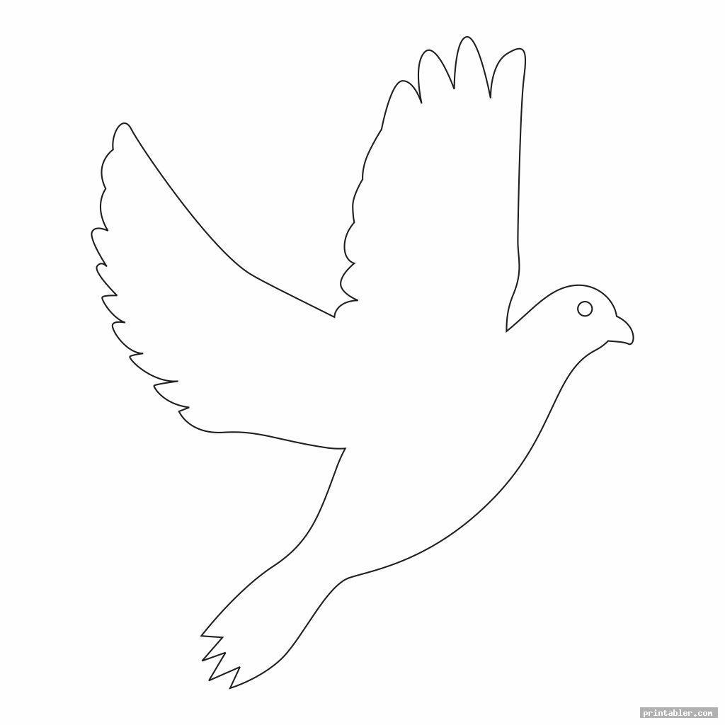 simple printable dove template