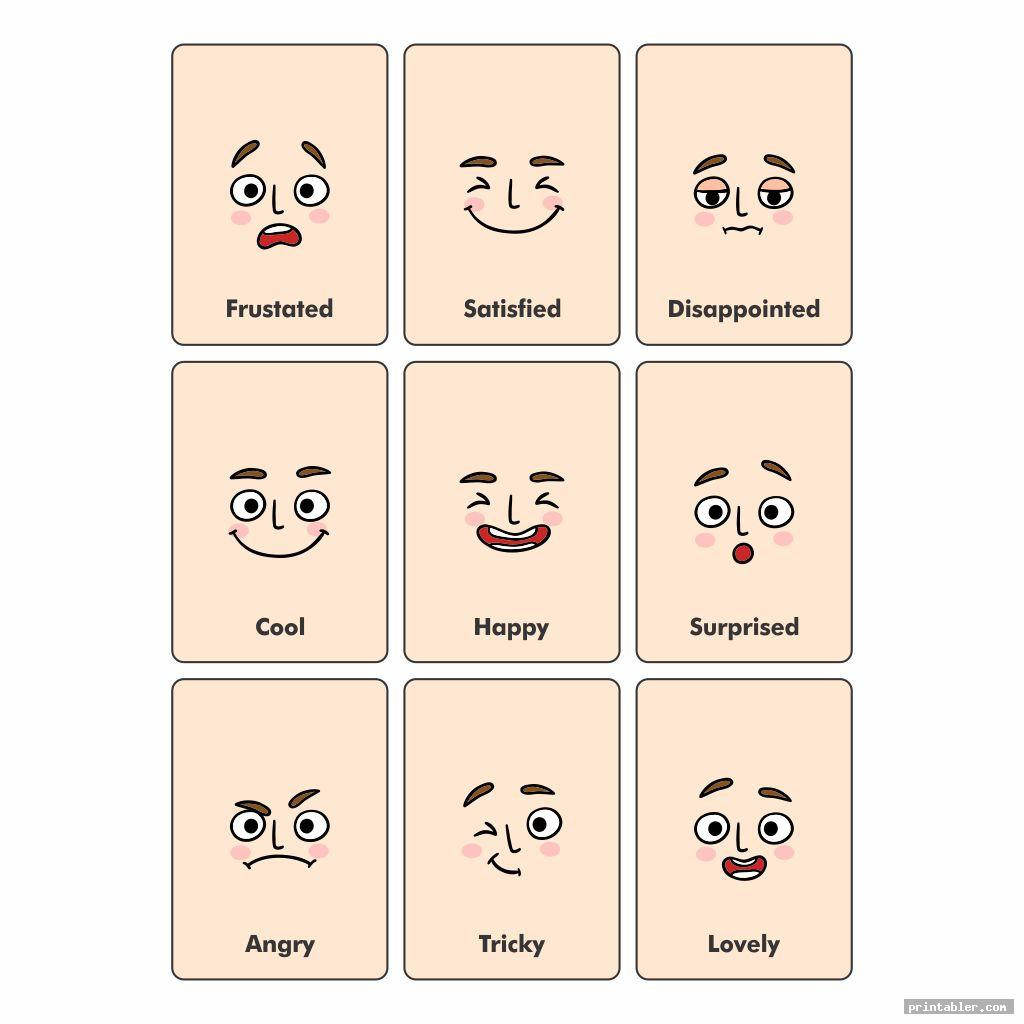 simple printable emotion cards