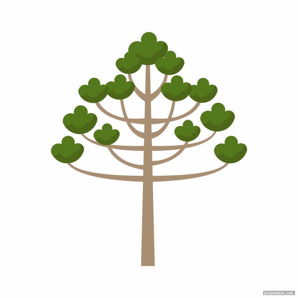 simple printable fingerprint tree